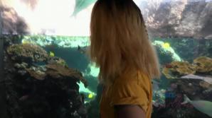 You take Aria to the Aquarium, and the beach.